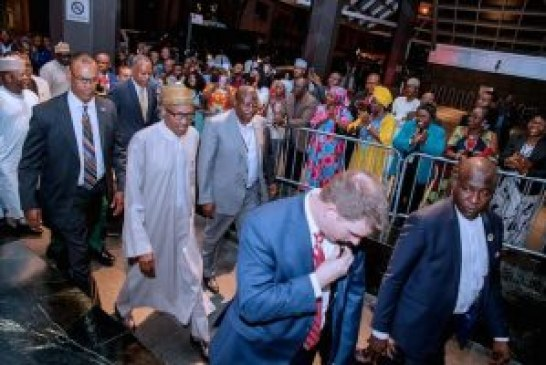 Buhari arrives New York
