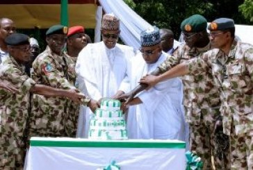 Buhari celebrates Independence anniversary with troops in Maiduguri
