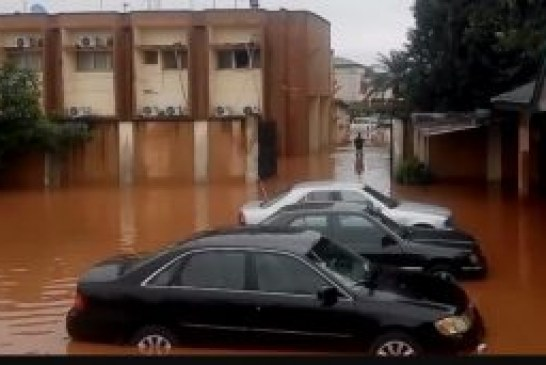 Flood takes over Edo INEC office, card readers, computers destroyed