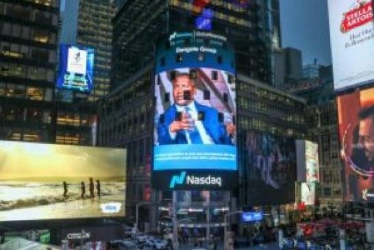 Dangote's picture displayed at New York's NASDAQ Tower