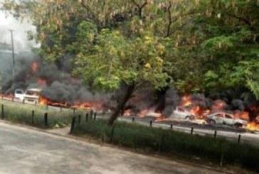 Fire guts 20 vehicles as tanker explodes in Festac