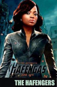 Funke Akindele in Hollywood's flick The Avengers