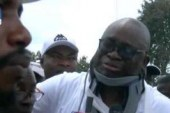 Policemen slapped me, shot at me, Fayose cries at PDP rally