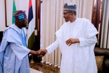 Buhari meets Tinubu, Oshiomhole at Aso Rock