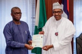 WAEC presents attestation certificate to Buhari