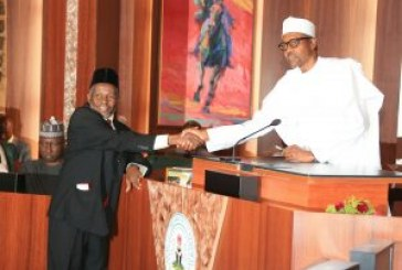 Buhari removes Onnoghen, appoints Ibrahim Muhammed as Acting CJN
